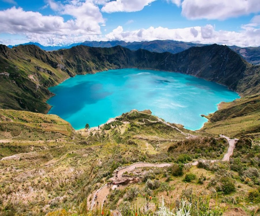 Lagoon Quilotoa considered one of the most beautiful lagoons in the World